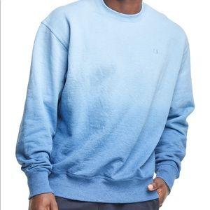 New sweatshirt blue Champion Fleece Ombre Crew